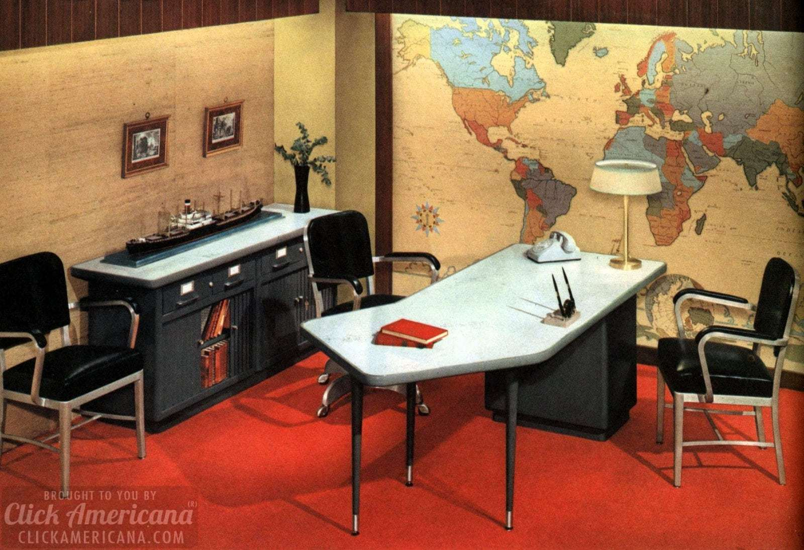 Mid Century Modern Retro Office Desks From 1959   Click Americana (1)