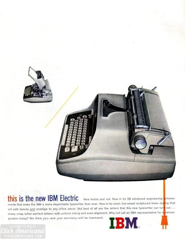 New IBM electric typwriter from 1959