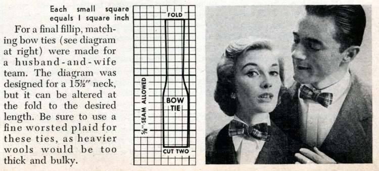 New accessories from old plaids How to use old clothing to sew something new from 1950 (4)