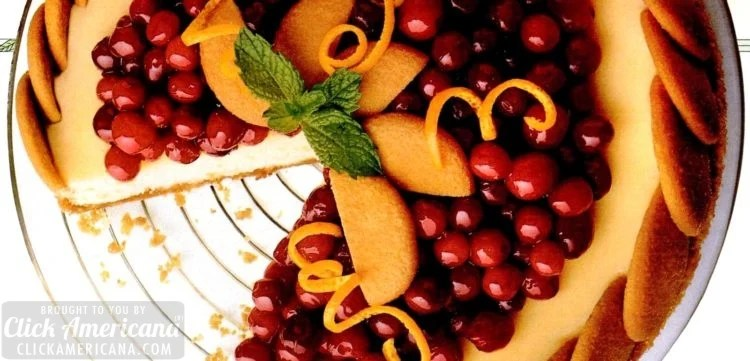 Nilla wafer cranberry cheesecake: Vanilla wafers crushed and whole make for a gorgeous dessert (1994)