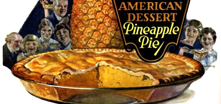 Old-fashioned pineapple pie recipe from 1922
