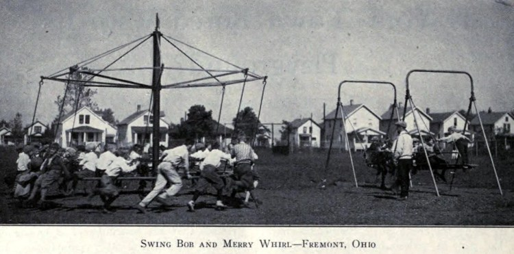 Old playground equipment and fun for kids from the 1920s (14)