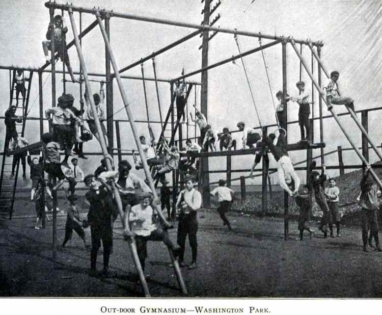 Old playground equipment and fun for kids from the 1920s (6)