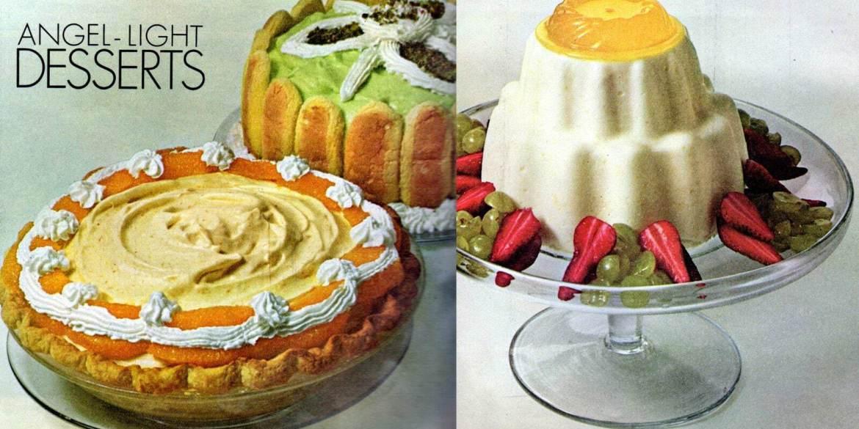 Orange chiffon pie, Lime Bavarian Charlotte & more (1965)