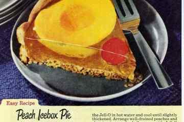 Clear Peach icebox pie
