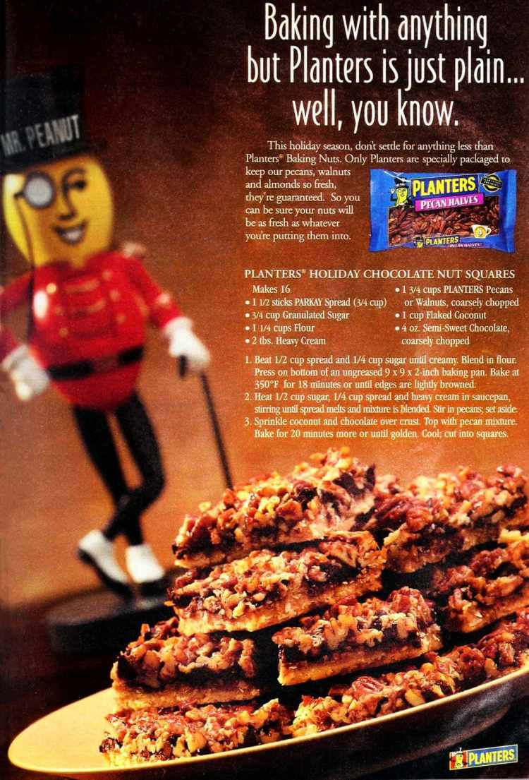 Planters holiday chocolate nut squares (1997)