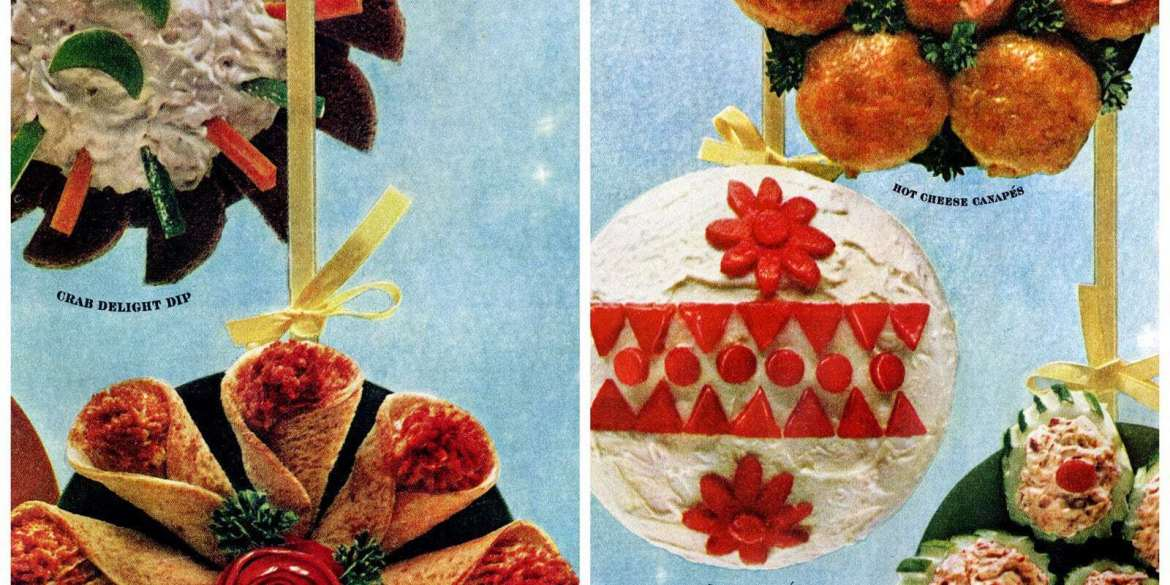 Retro Christmas appetizer recipes from 1965