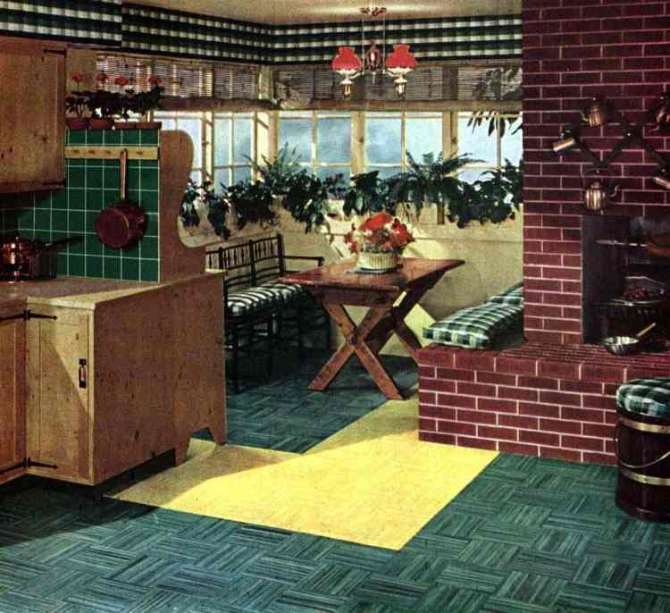 Retro kitchens with 1950s flooring from 1952 (1)