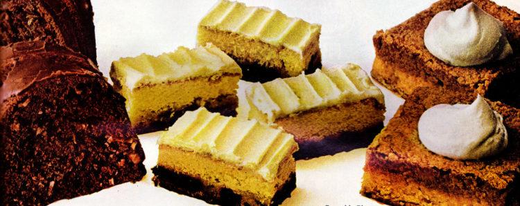Retro recipes Pumpkin bars, Coconut choco-swirl cake Date bar cake