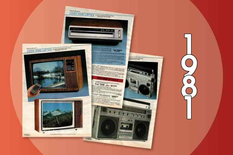 Retro tech - home electronics - 1981 Sears catalog