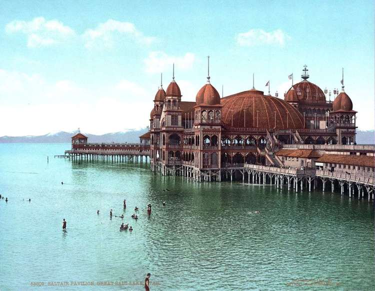 Saltair Pavilion at the Great Salt Lake in Utah - 1900