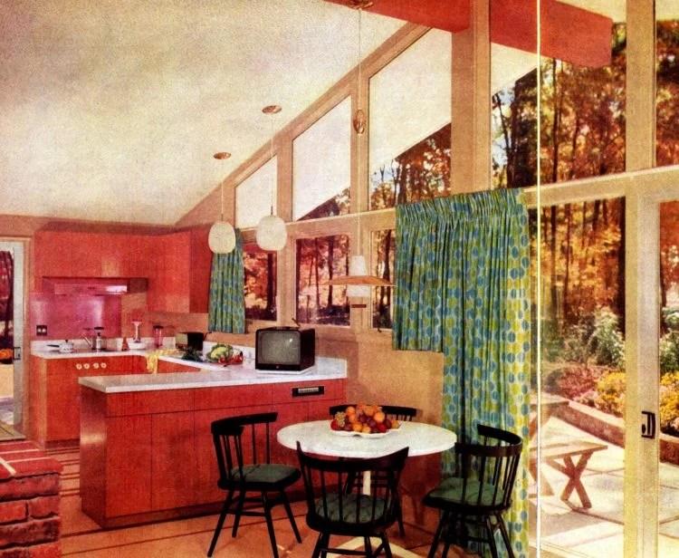 Scholz Mark 58 mid-century modern model home kitchen-family room (2)