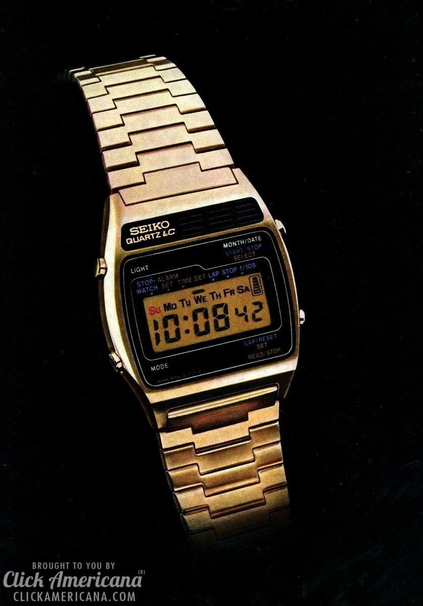 Seiko introduces multimode digital alarm watch 1977  Click Americana