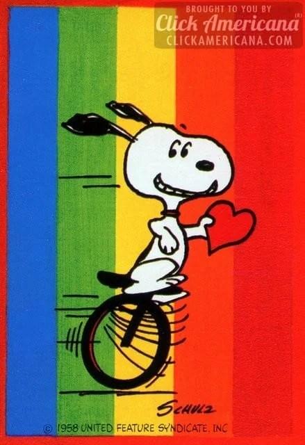 Vintage Valentine's Day card: Happy, happy, happy, happy Valentine's Day!