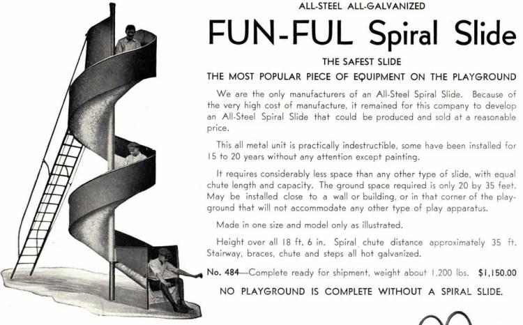 Spiral slide from 1940