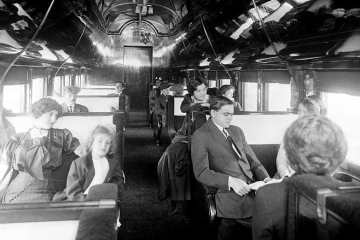 Standard pullman car on a deluxe overland limited train