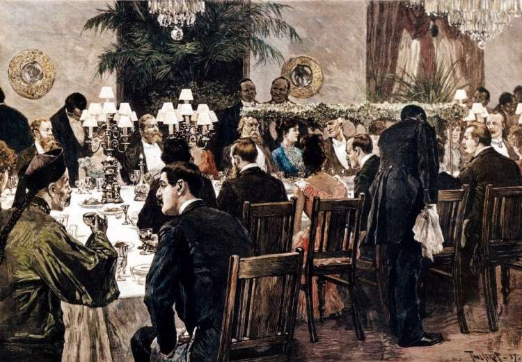 State Dinner During the Cleveland Administration, 1889 - Courtesy White House Historical Association