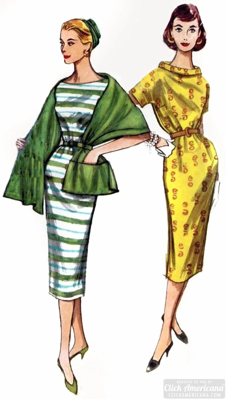 Stylish women from the fifties