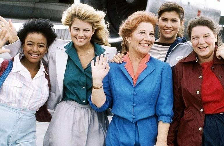 The Facts of Life cast - outside