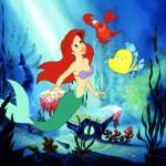 The Little Mermaid movie - Ariel underwater - 1989