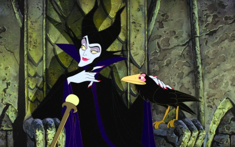 The baddie Maleficent in Disney's Sleeping Beauty movie - 1959
