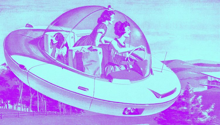 The future has flying cars!
