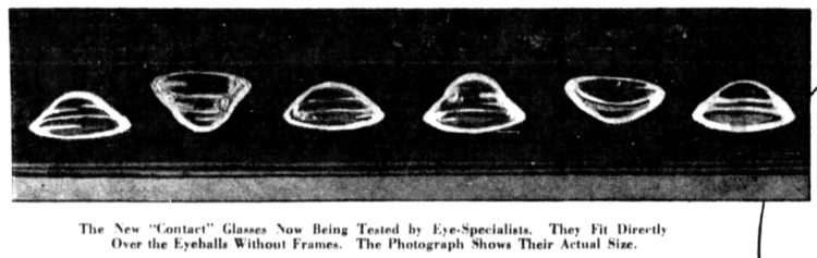 The eye-opening invention of contact lenses in 1931