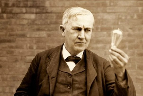 Image result for Thomas Edison invents the first commercially practical incandescent light bulb
