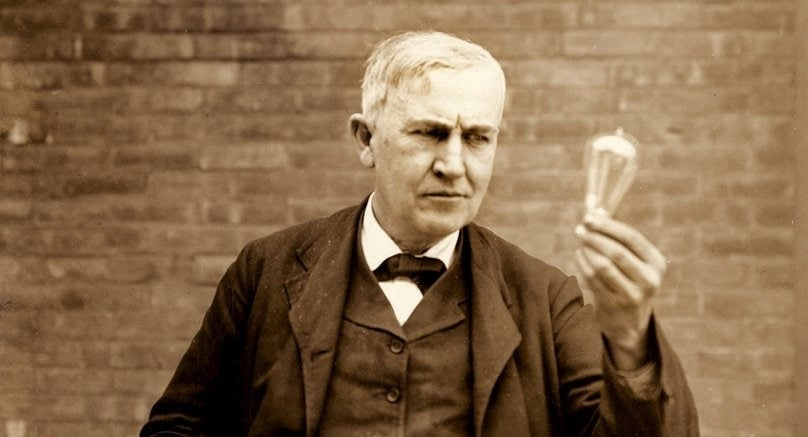 Thomas Edison Light Bulb Year