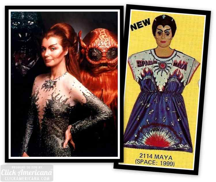 Ugly Vintage 70s Halloween costumes and masks - Space 1999