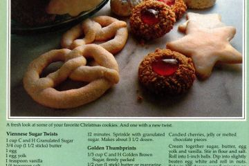 Viennese Sugar Twists Golden Thumbprints-cookies 1981