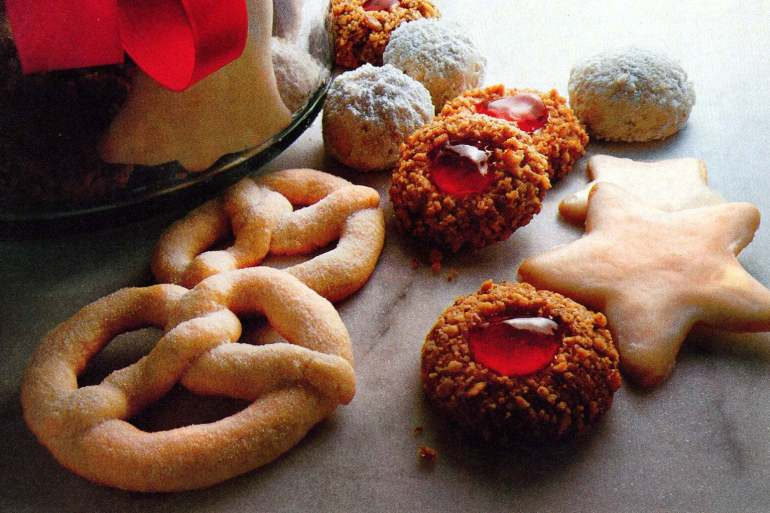 Viennese sugar twists & Golden thumbprints Classic Christmas cookie recipes (2)