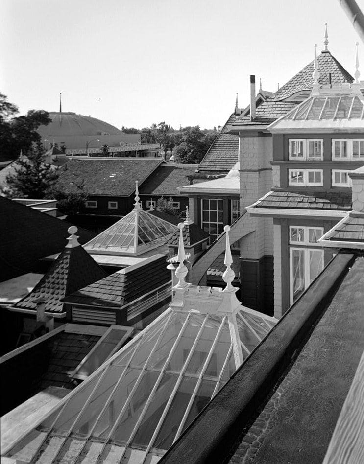 View from inside the Winchester House