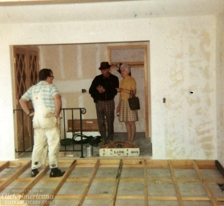 Vintage 1970s house in Santa Rosa California - Under construction