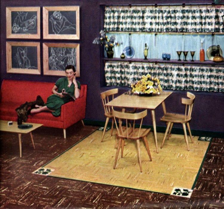 Vintage 50s flooring in square patterns (2)