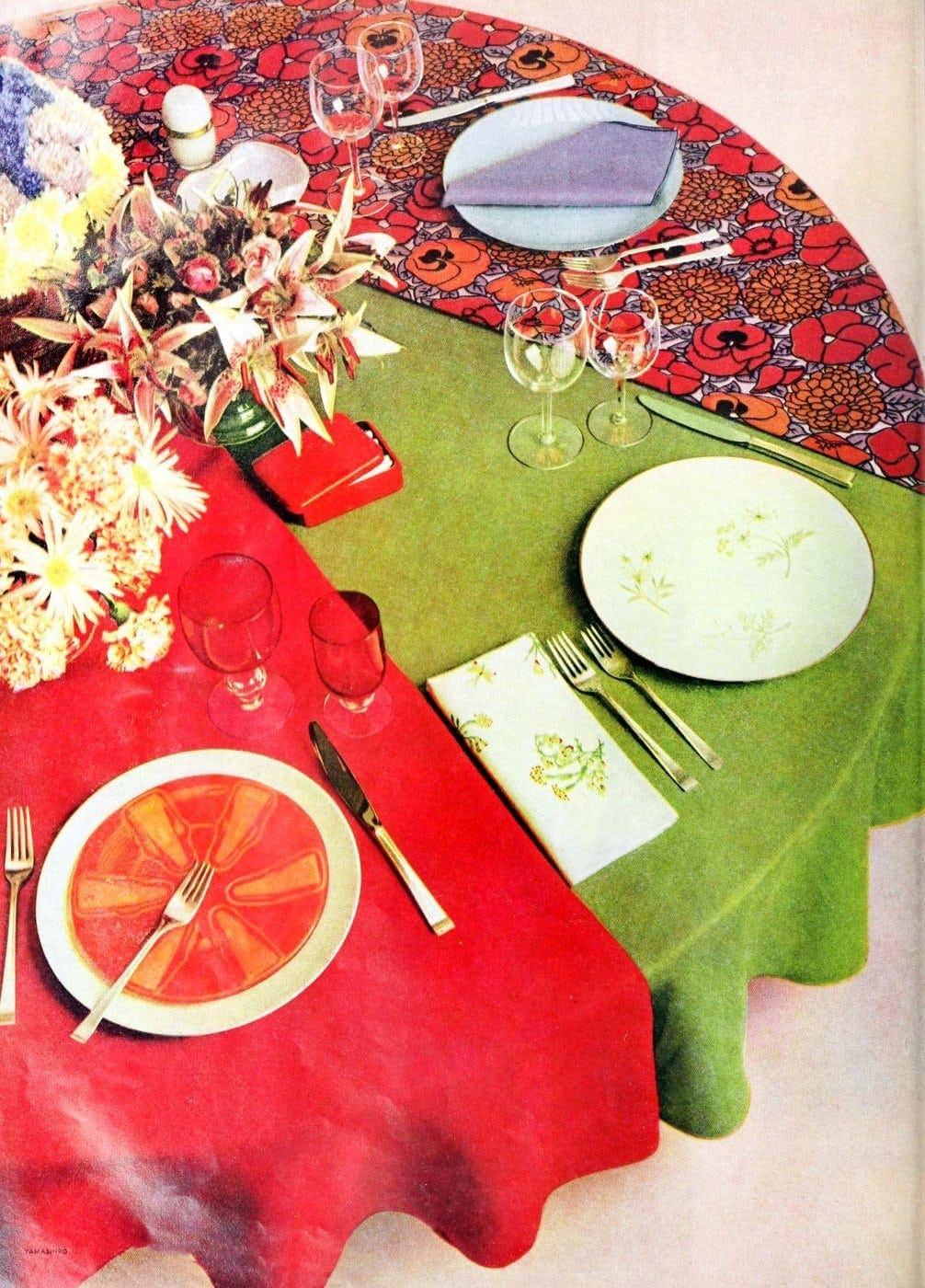 50 vintage 50s table setting ideas