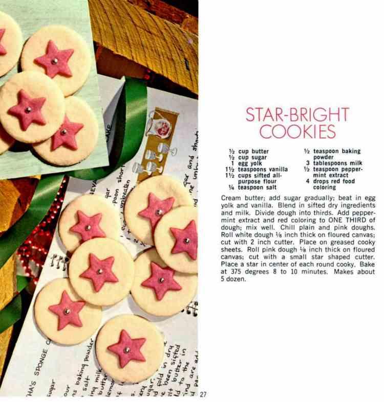 Vintage Christmas cookies - Star Brights - Wisconsin 1968