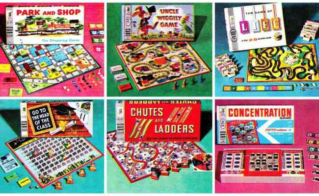 Vintage Milton Bradley Board Games For Family Fun 1950s