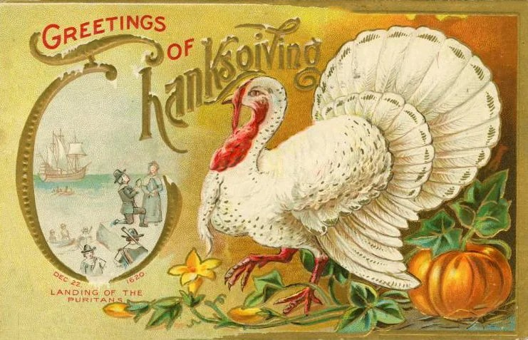 Vintage and antique Thanksgiving postcards from the early 1900s (10)