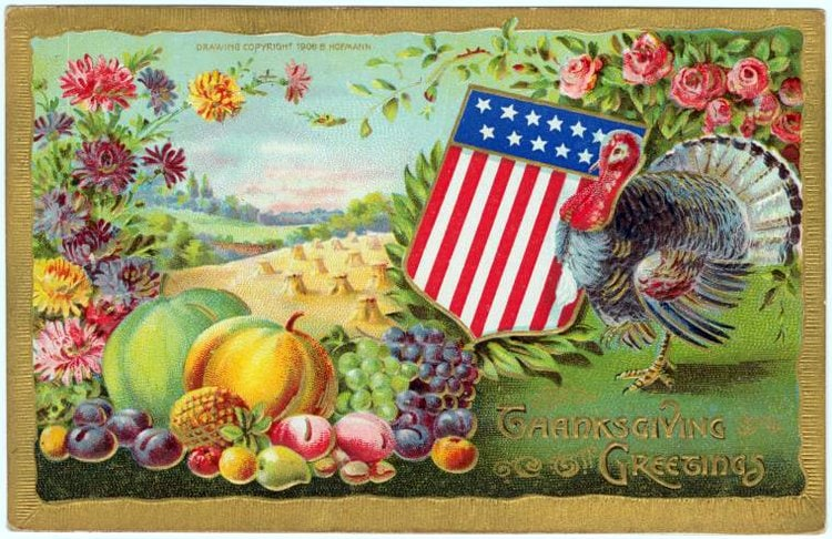 Vintage and antique Thanksgiving postcards from the early 1900s (11)