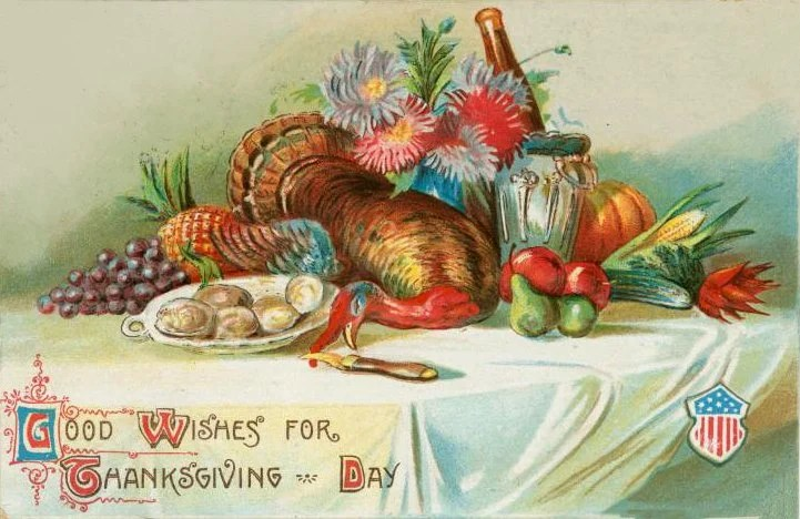 Vintage and antique Thanksgiving postcards from the early 1900s (3)