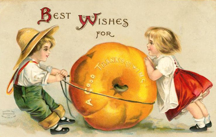 Vintage and antique Thanksgiving postcards from the early 1900s (6)