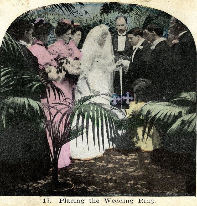 Vintage church wedding - Marriage ceremong with bride and groom (2)