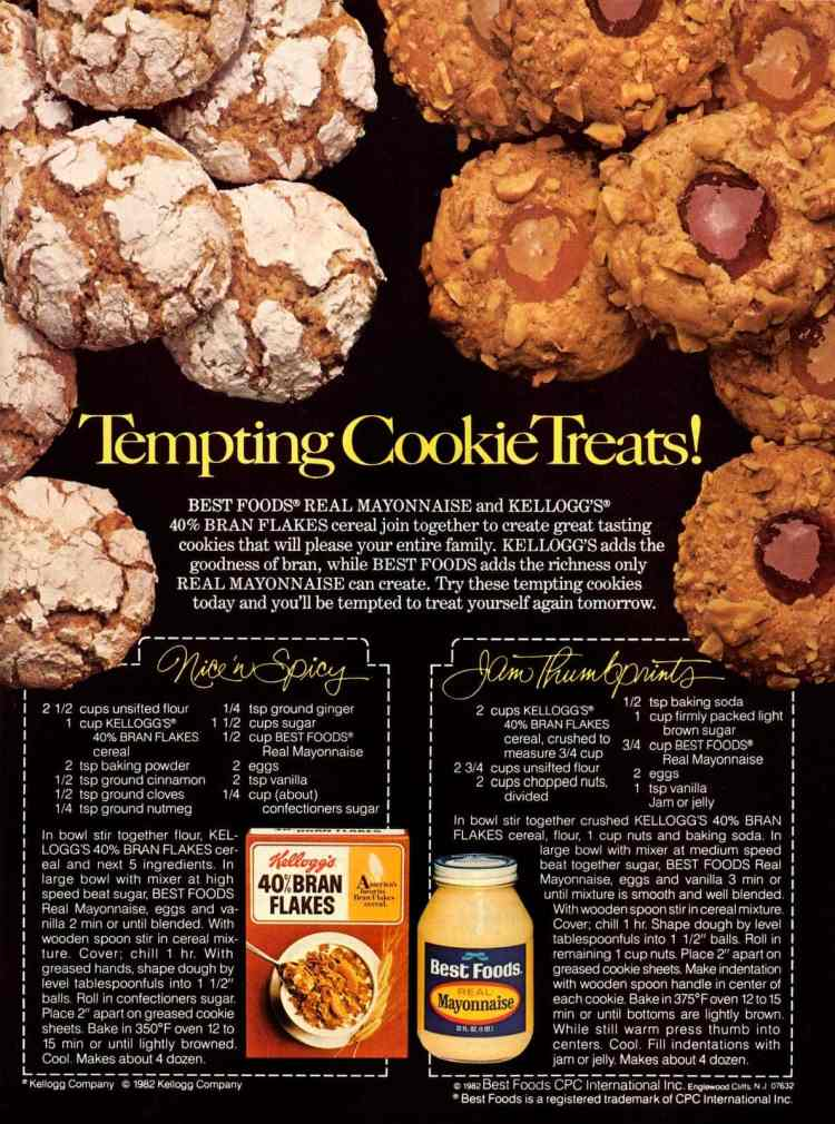 Vintage jam thumbprint cookies and spiced crackle cookies