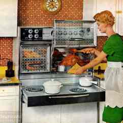 Vintage Kitchen Stoves Tiles Size 8 Sixties Kitchens With Flair Ranges Pull Out Electric And Glass Oven Doors That Opened Upwards