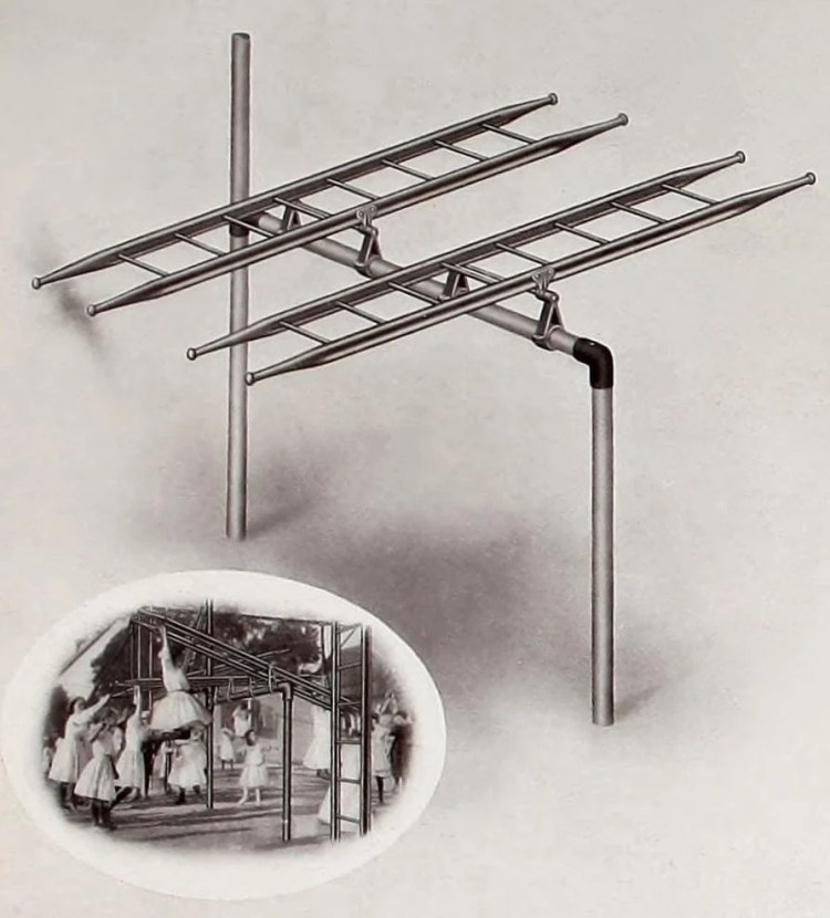Vintage old playground fun from 1911 - Teeter ladders