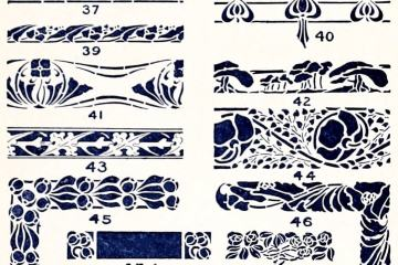 A Classic Collection Of Vintage Stencil Designs 1910