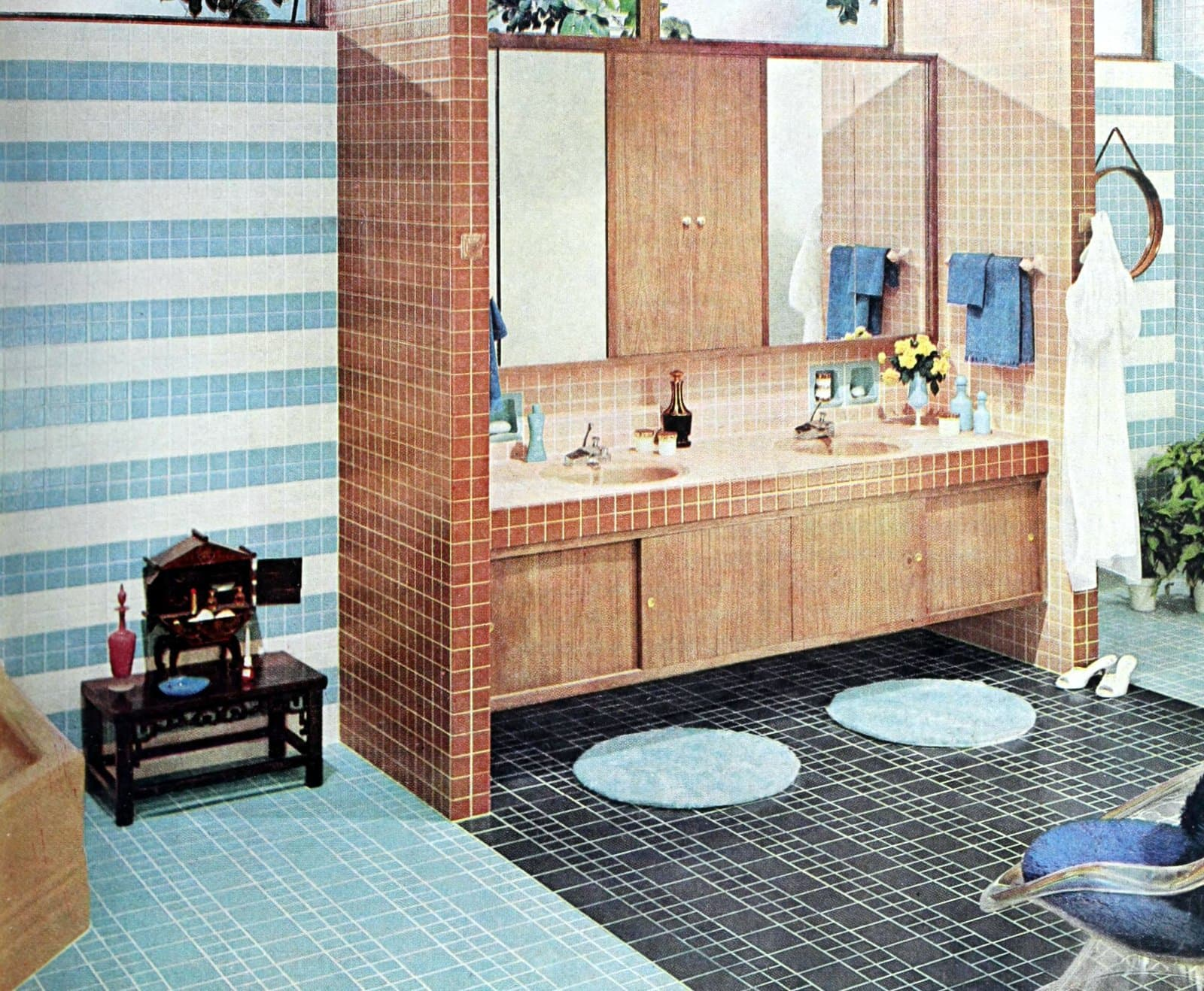50 vintage 1960s bathroom tile design