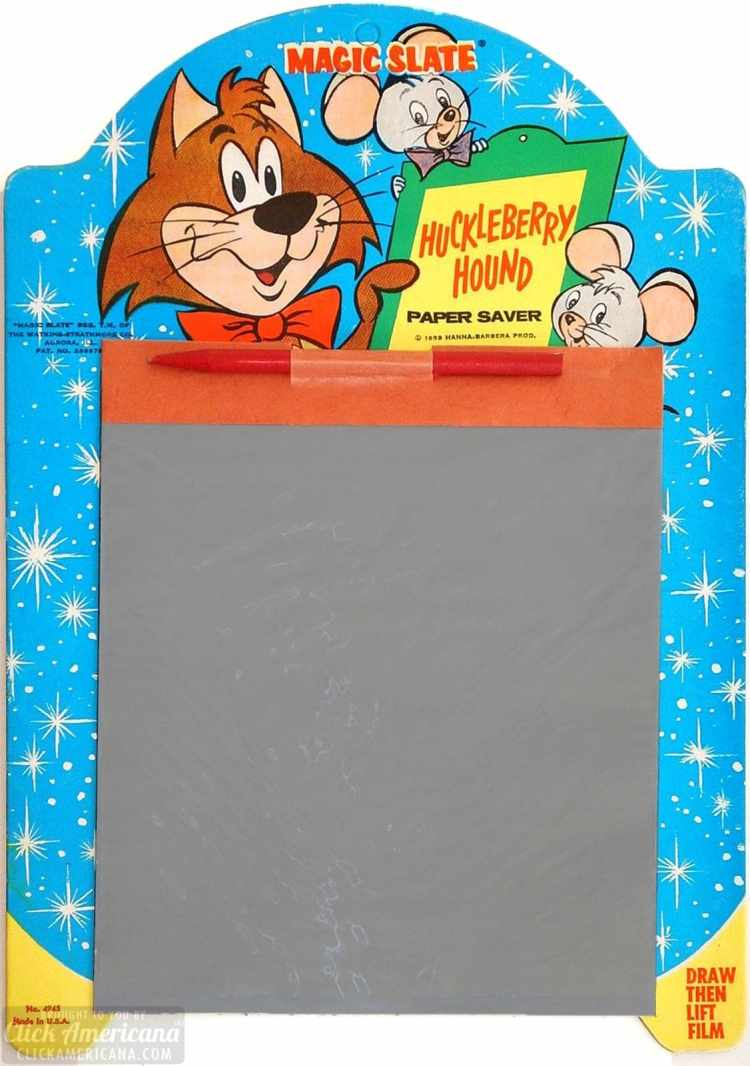 Vintage toy - Magic Slate 1959 - Mr Jinks Huckleberry Hound