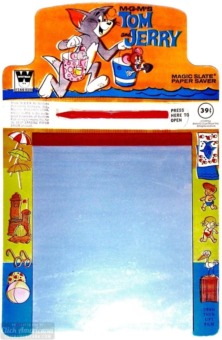Vintage toy - Magic Slate 1972 - Tom and Jerry